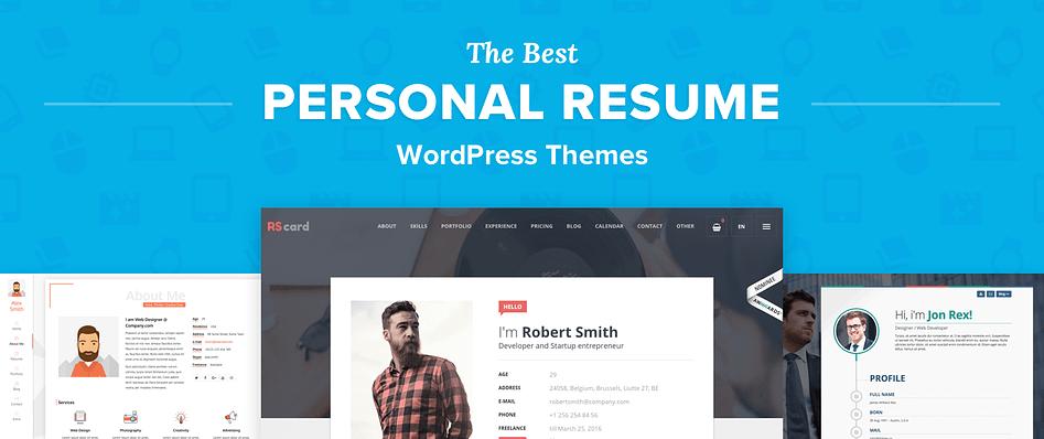 Top 12 Best Wordpress Resume Themes For Online Cvs