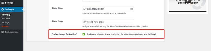 Image Protection addon