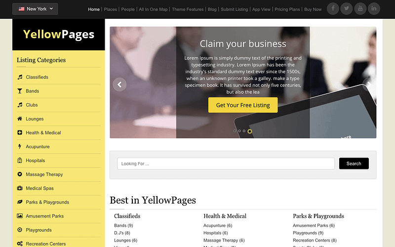 YellowPages theme