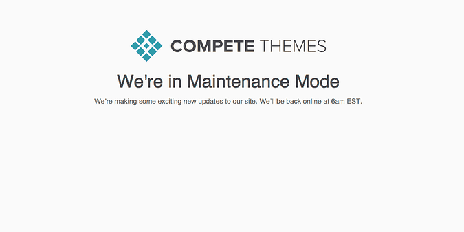 the current look of the maintenance mode page