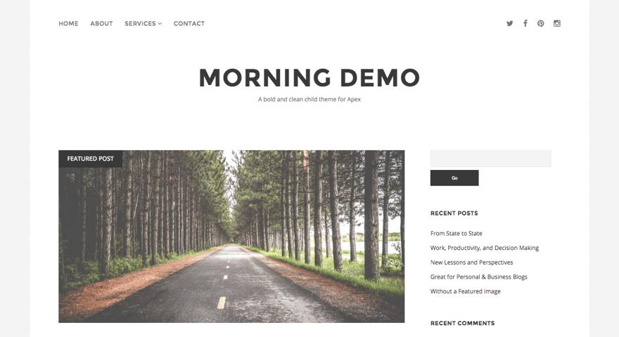 Morning WordPress theme