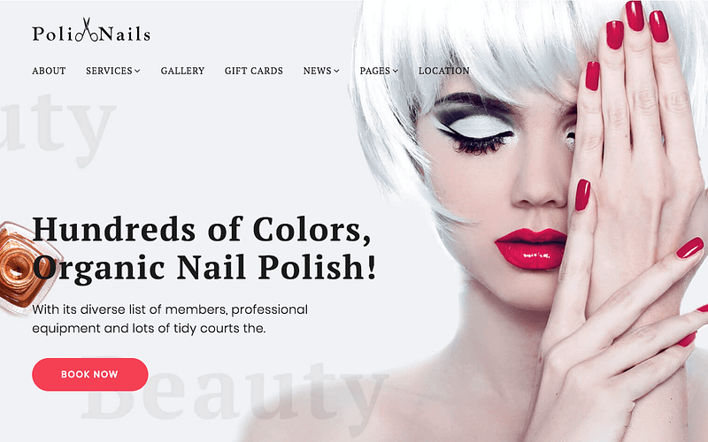 PoliNails nail salon theme