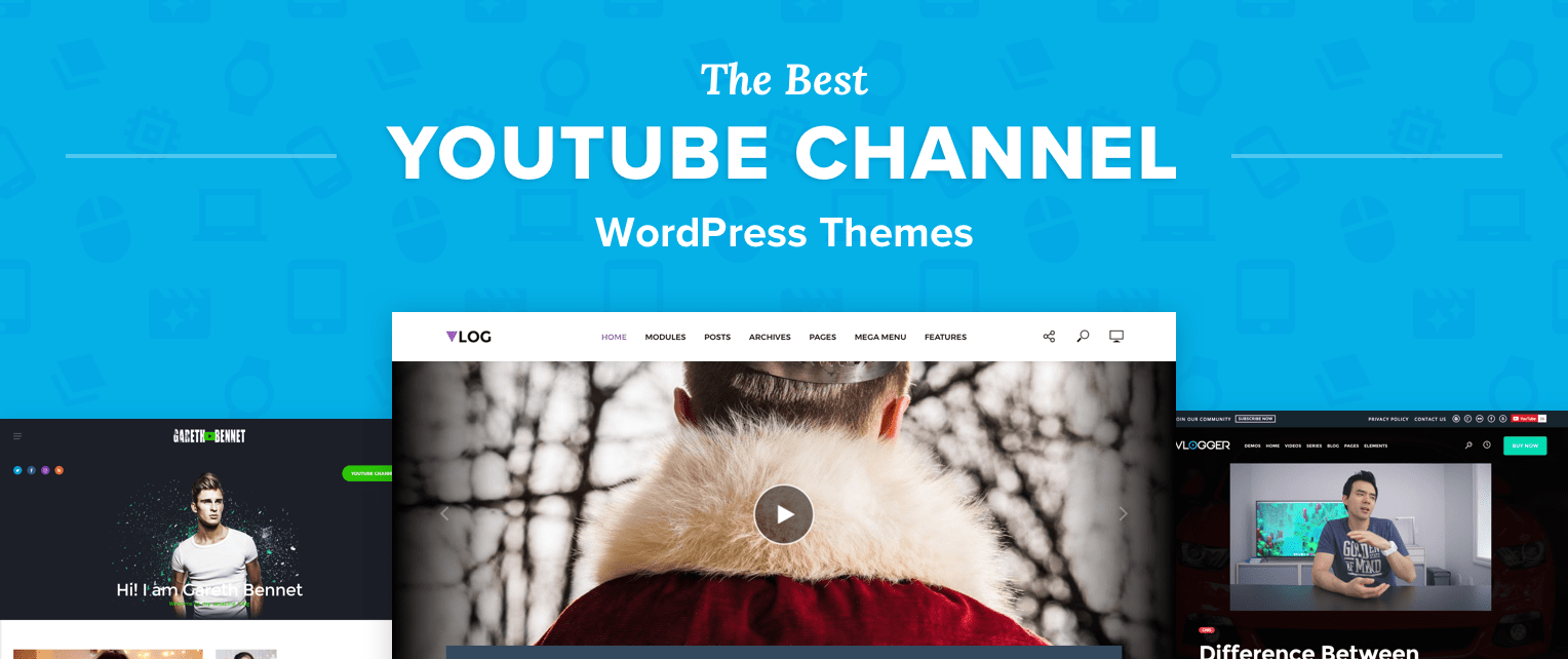 Youtube Channel WordPress Themes