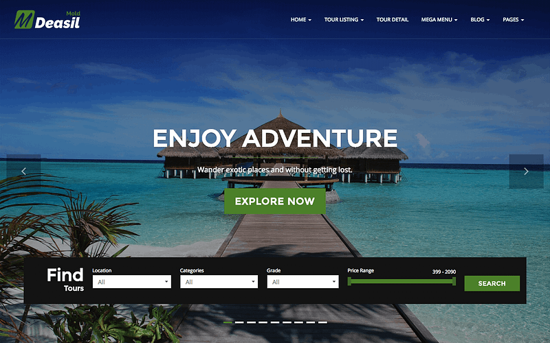 Deasil travel WP theme