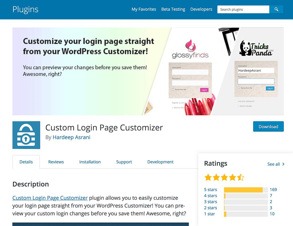 Custom Login Page Customizer