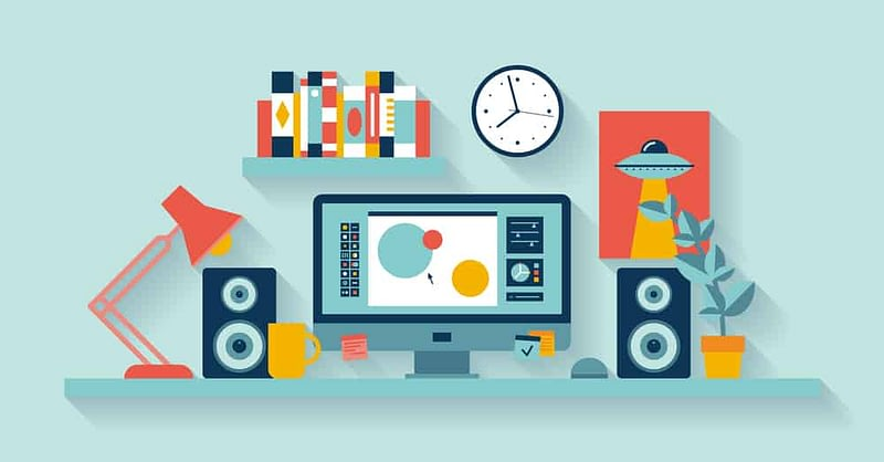 Desk ready for web customization work