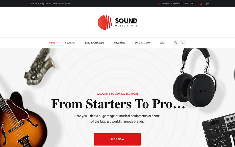 Sound music store theme