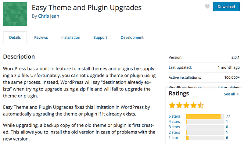 Easy Theme Plugin Upgrades