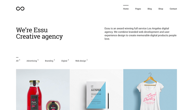 Essu WordPress theme