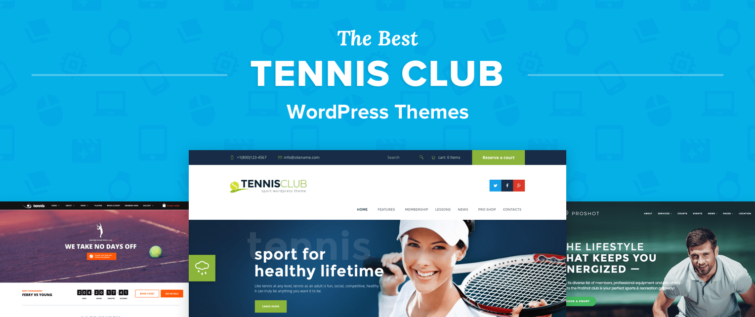 Tennis WordPress Themes