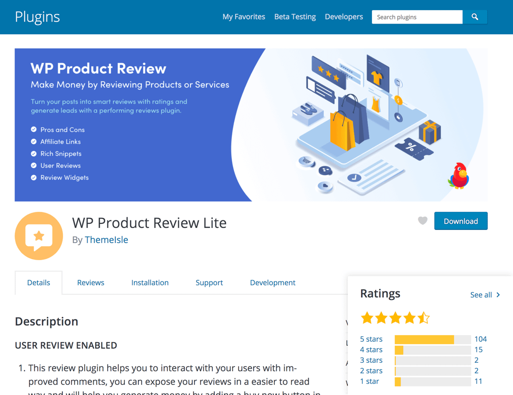 Wp Product Review Lite Plugin