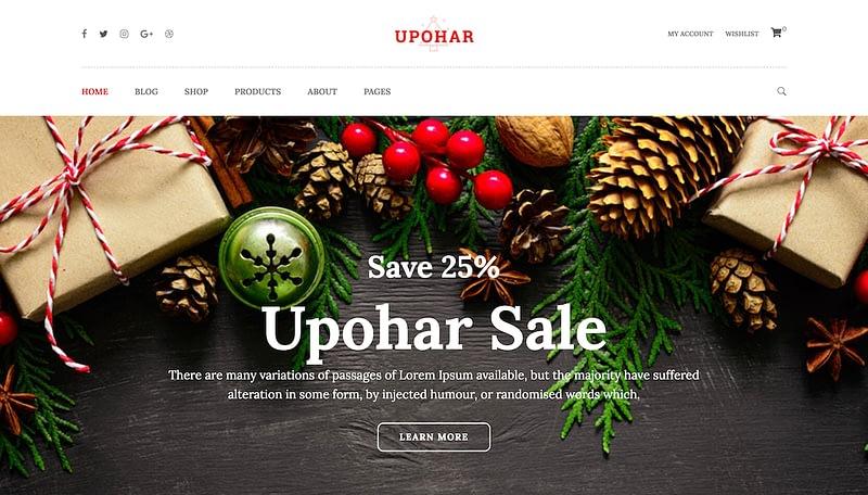 Upohar WordPress theme