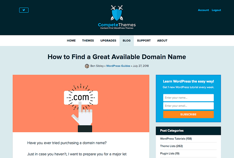 Domain Name Post