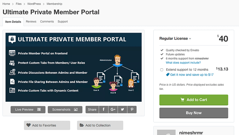 Ultimate Private Member Portal