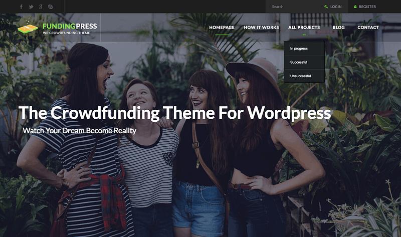 Fundingpress WordPress theme