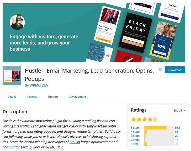Hustle Popup Plugin