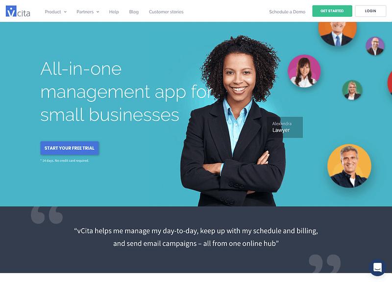vCita homepage