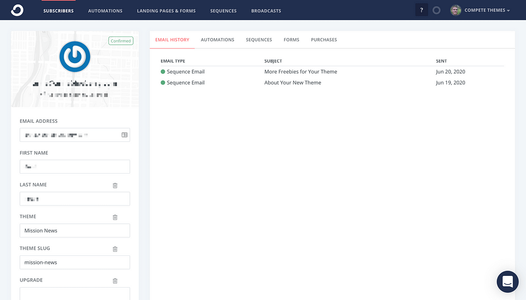 Convertkit Subscriber Profile