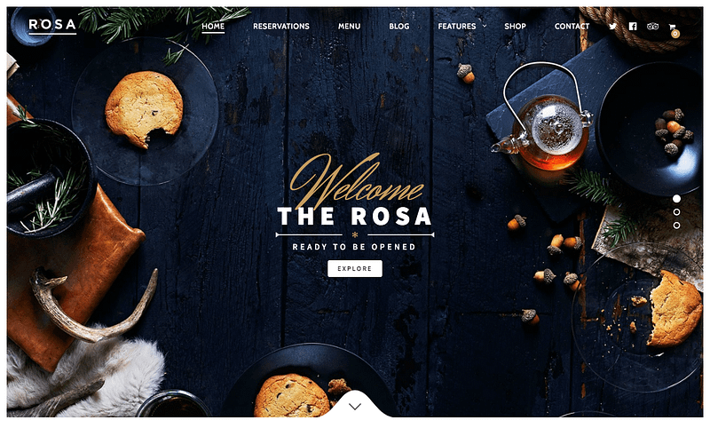 Rosa restaurant theme