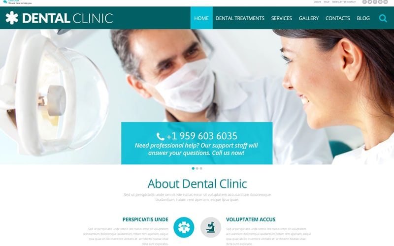 Dental Clinic dentist theme