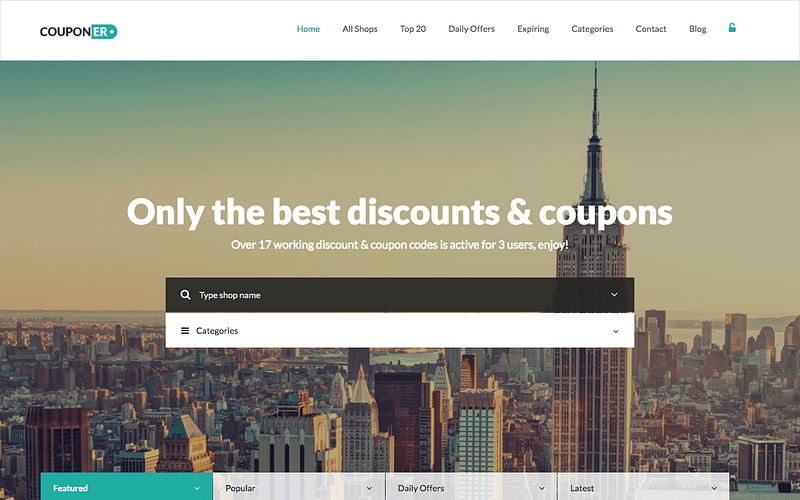 Couponer WP theme