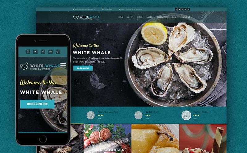 White Whale Seafood Restaurant WordPress Theme