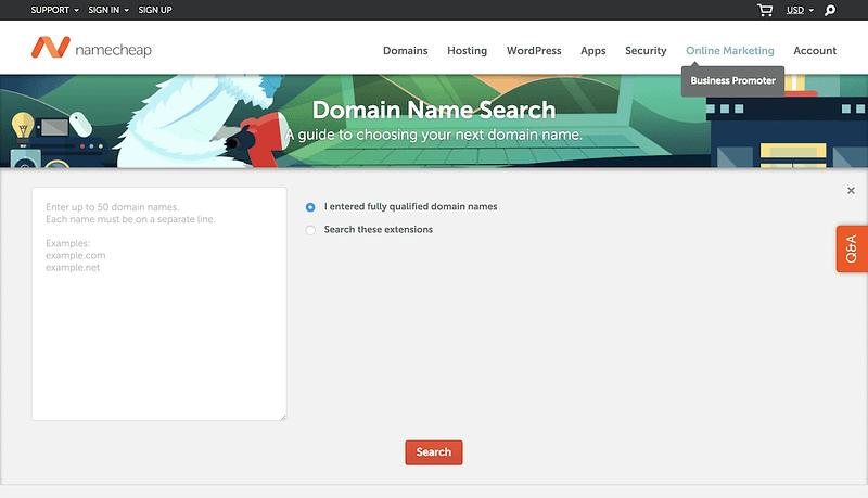 Namecheap Bulk Domain Checker
