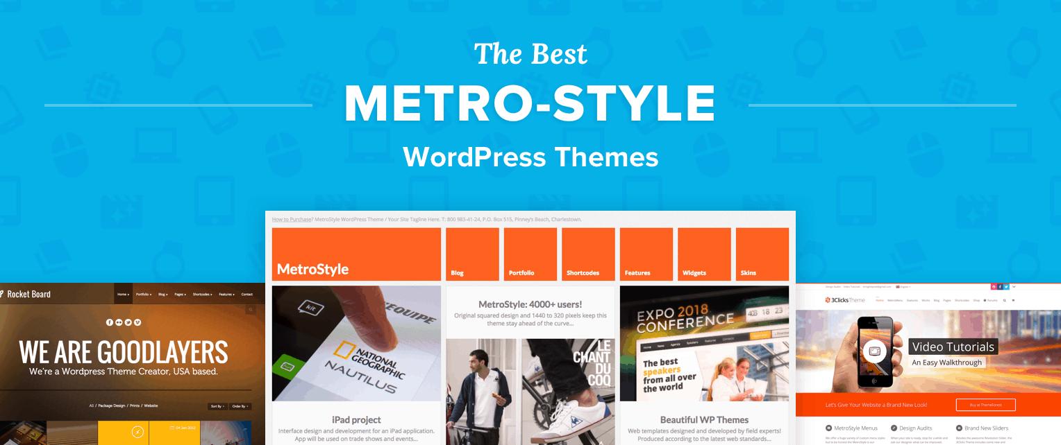 Best Metro Style WordPress Themes