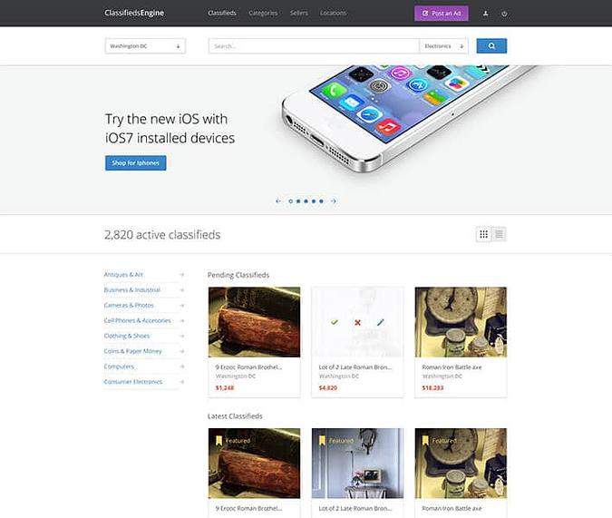 classifiedsEngine screenshot