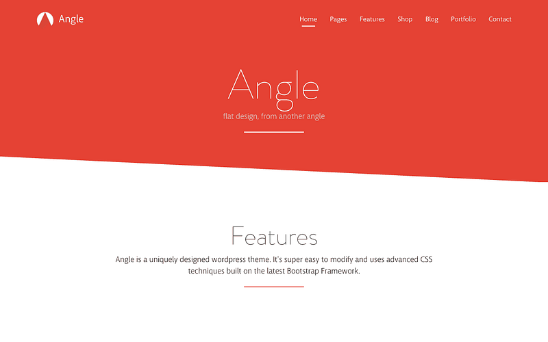 Angle Twitter Bootstrap theme