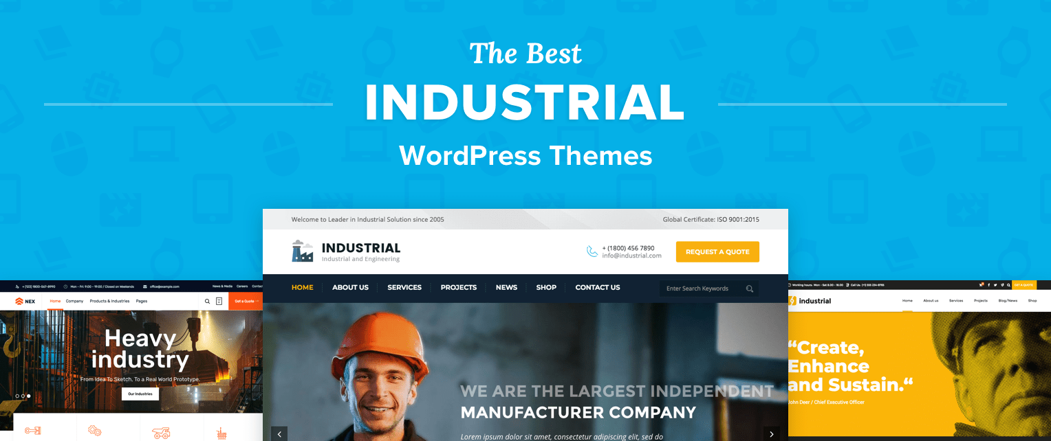 Industrial Wordpress Themes