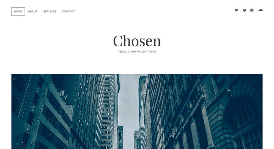 Chosen WordPress theme