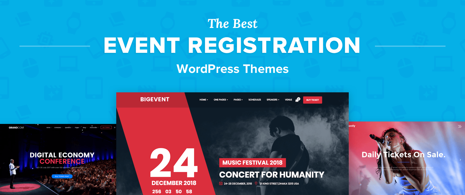 Event Registration WordPress Themes