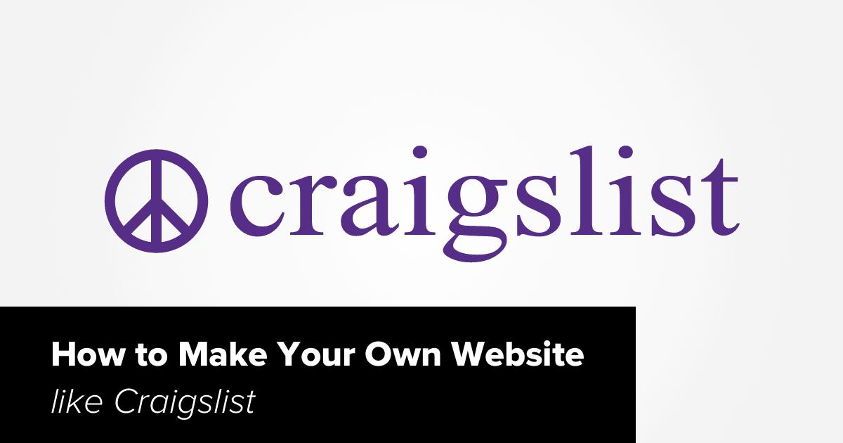 What are websites like craigslist