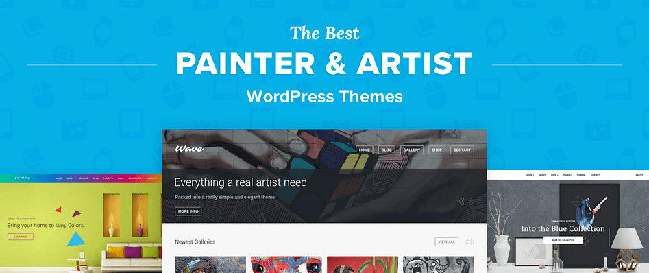 Top 5 Best Wordpress Themes For Painters Art Portfolios And