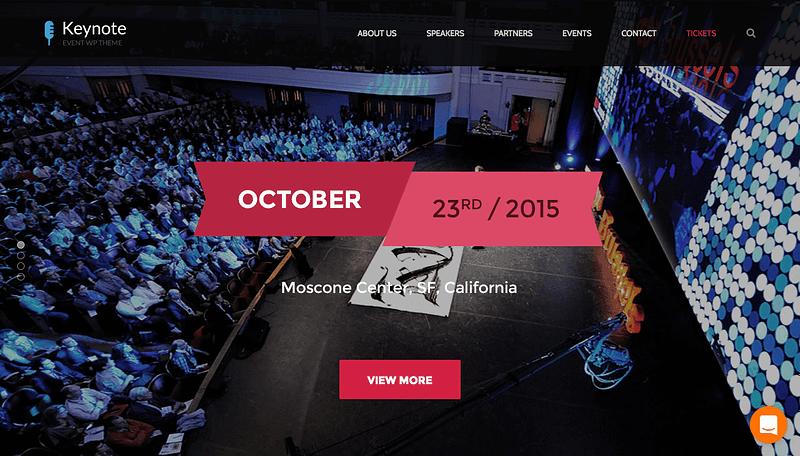 Keynote Events WP theme