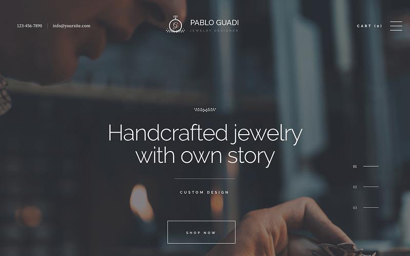 Pablo Guadi jewelry theme