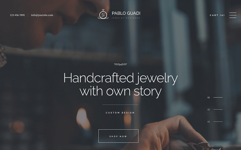 Pablo Guadi jewelry theme