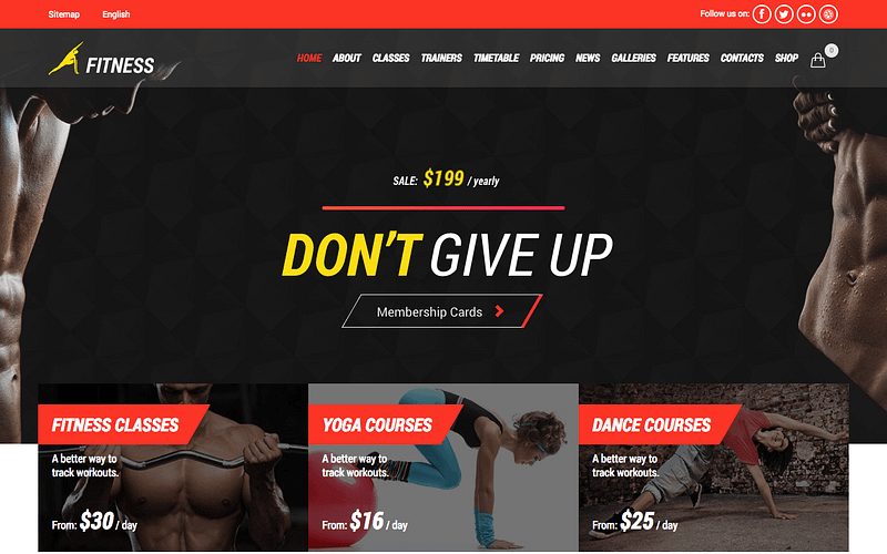 Gym & Fitness WordPress theme