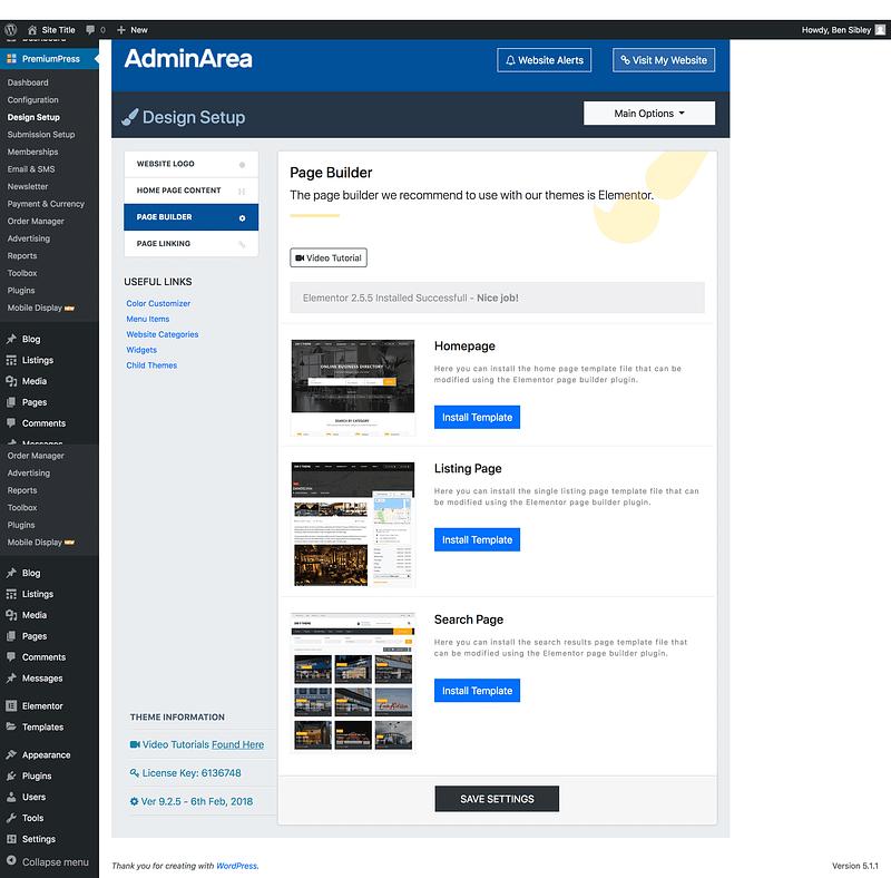 Directory Elementor Templates