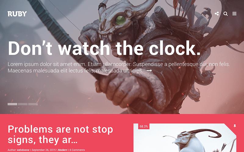 Ruby game developer theme