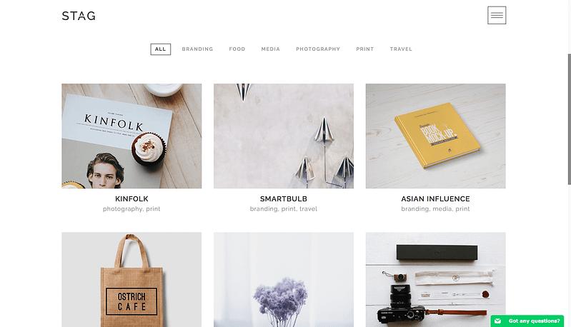 Stag portfolio WordPress theme