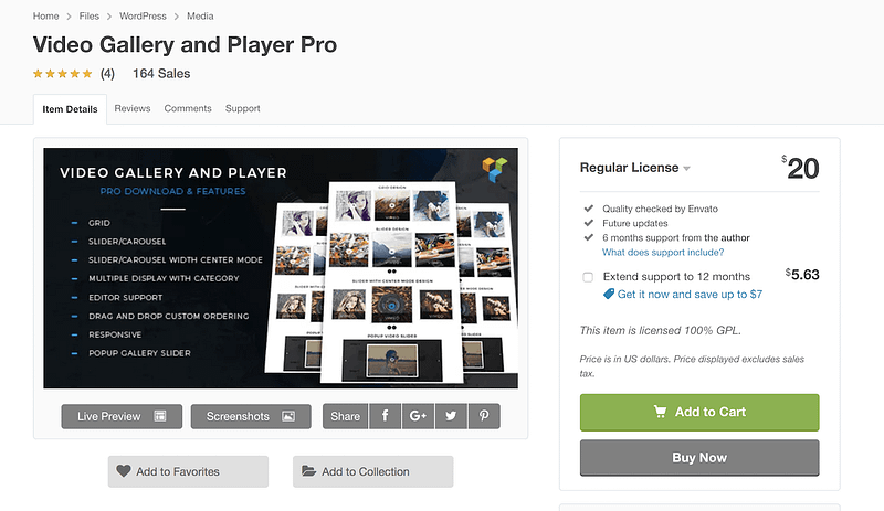Video Gallery Player Pro
