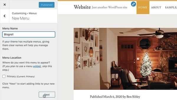 Blogroll Menüsü Oluştur