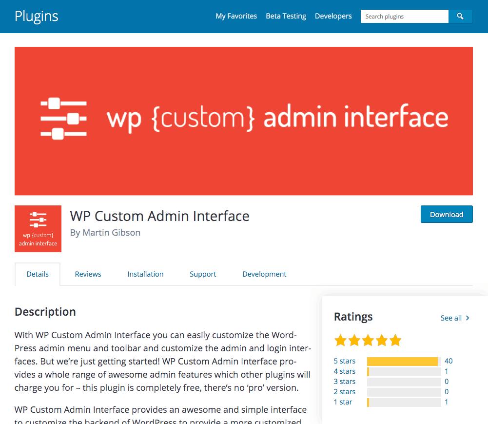 Wp Custom Admin Interface Plugin