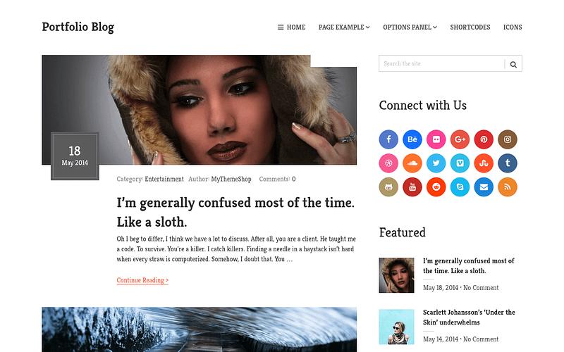 Portfolio Blog Layout