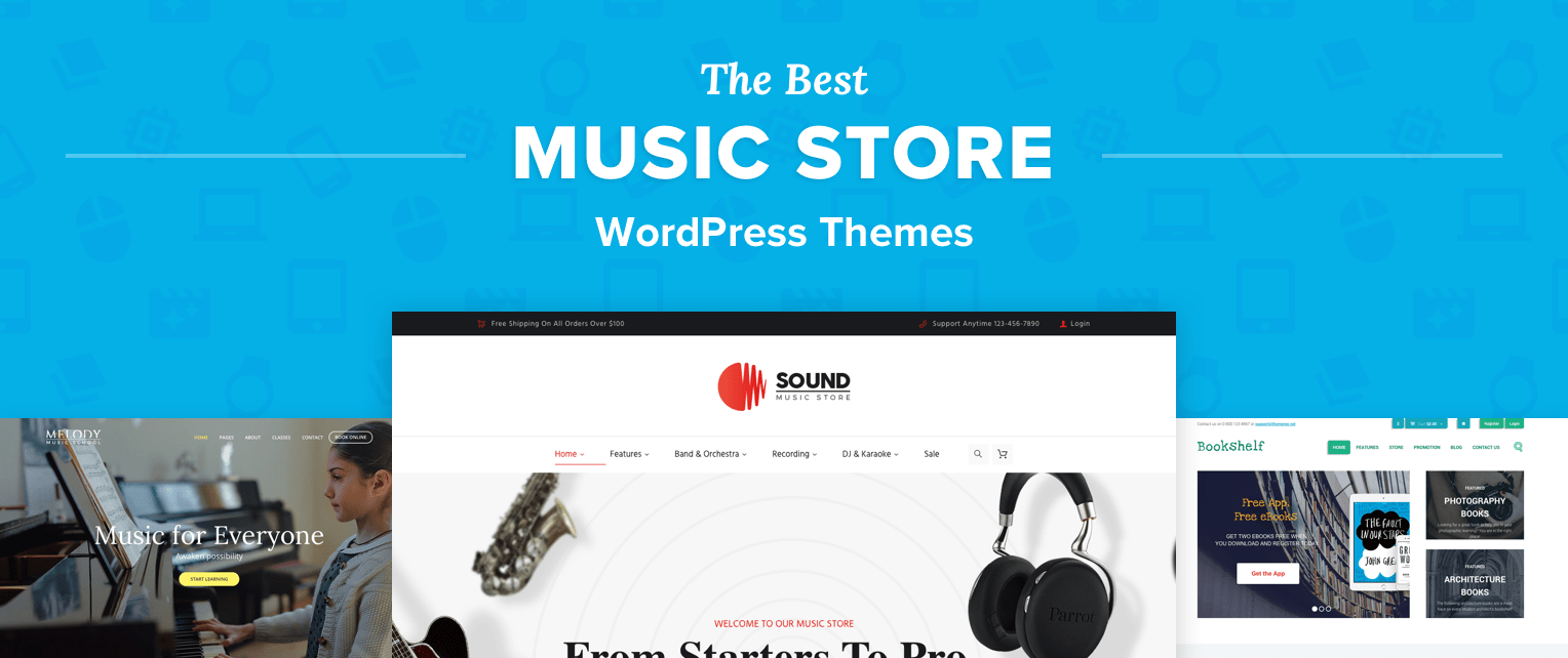 Music Store WordPress Themes