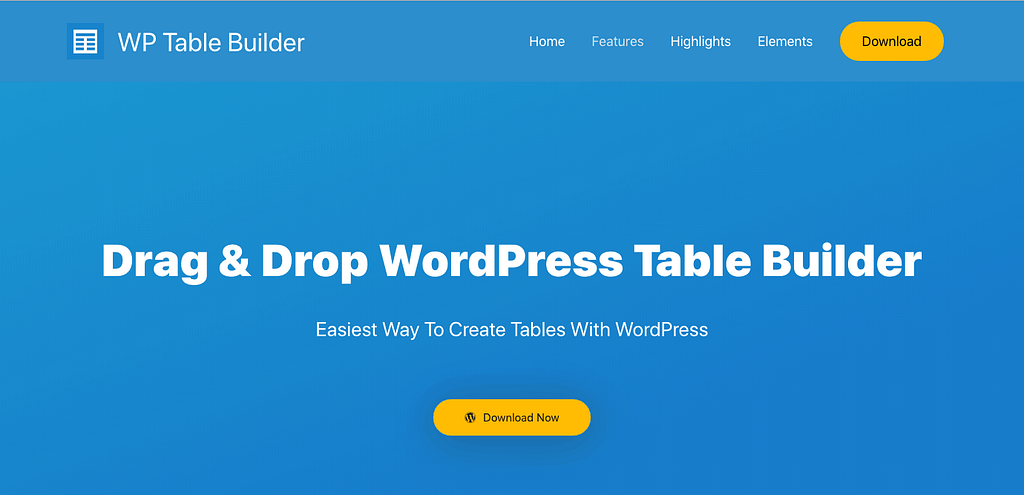 Wp Table Builder