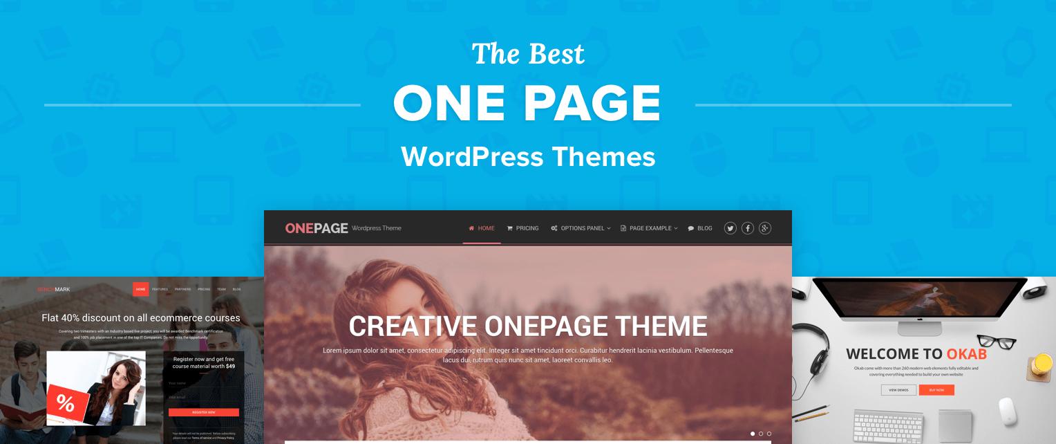 One Page Wordpress Themes
