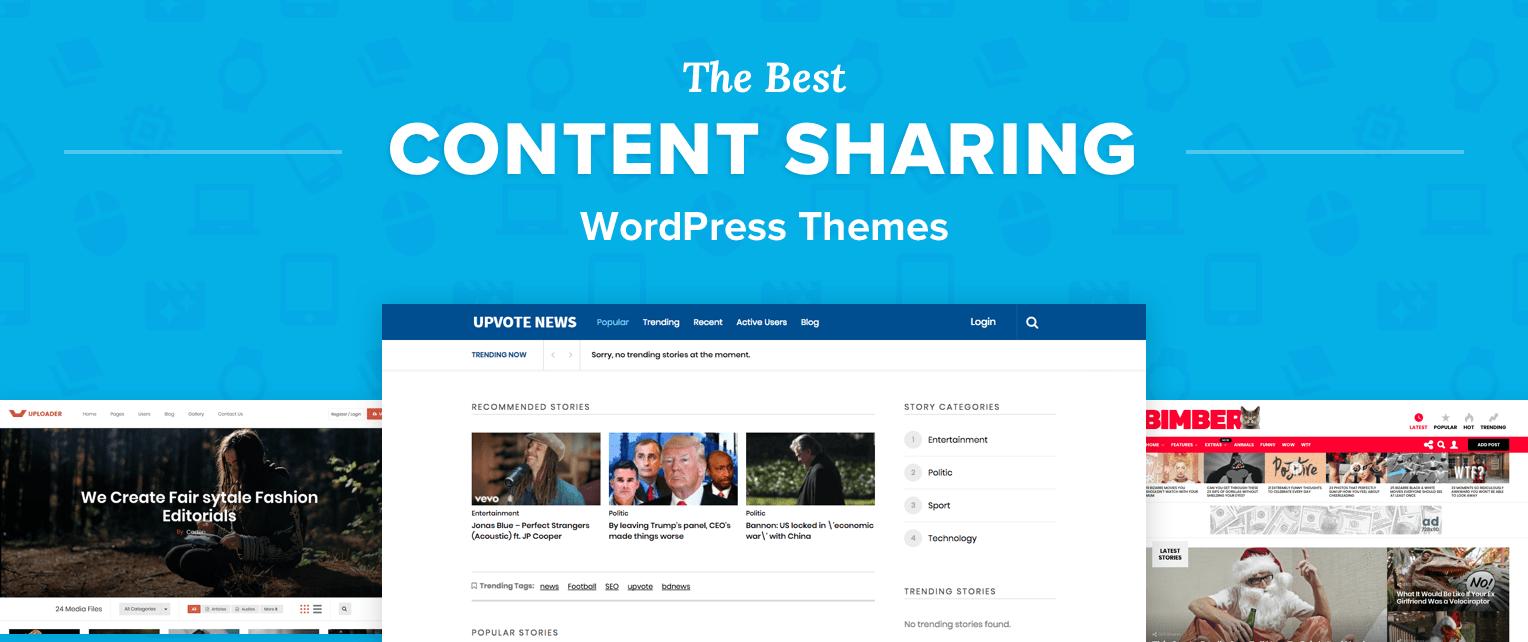 Content Sharing Wordpress Themes